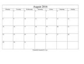 August 2017 Calendar Template Editable