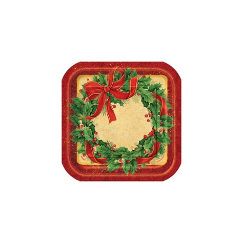pack of 8 christmas large plates