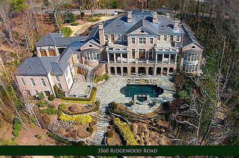 million brick regency mansion  atlanta ga homes