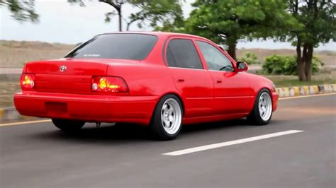 stanced toyota corolla toyota corolla ae101 red stanced youtube