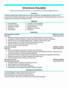 best lead massage therapist resume example livecareer With free resume templates for massage therapists