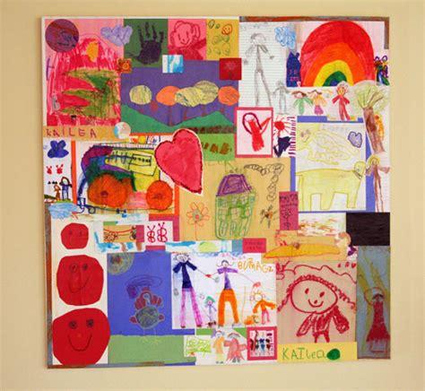 5 ways to organize enjoy your kid s artwork 629 | kids artwork collage