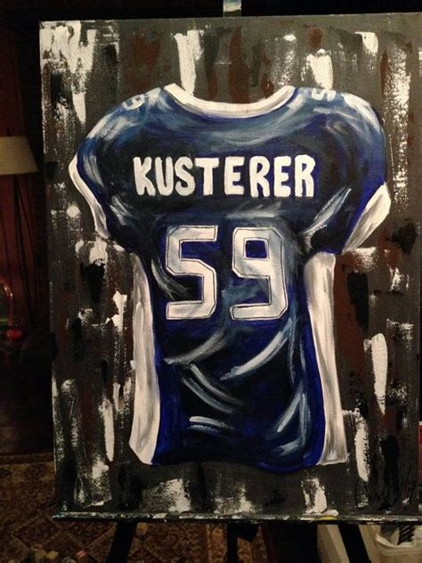 personalized sports jersey painting senior graduate