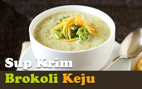 Sup krim adalah yang paling baik dibuat sebelum disajikan, terutama ketika menggunakan sayuran hijau, karena sup bisa kehilangan sebagian warnanya. Resep Sup Krim Brokoli Keju   Resepkoki.co