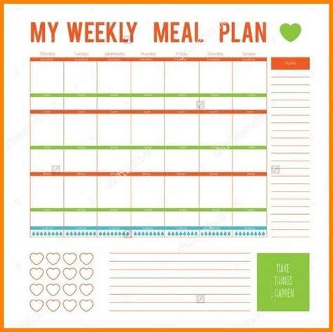 Meal Planner Template Word by 12 Editable Menu Planner Defense