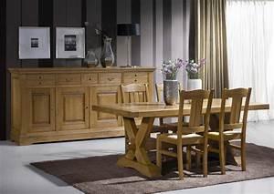 acheter votre table pieds croix en 200 ou 220 cm chez simeuble With meuble de salle a manger avec magasin meuble rustique