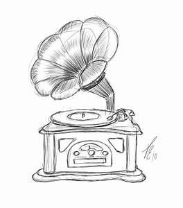 Record Player Drawing At Getdrawings