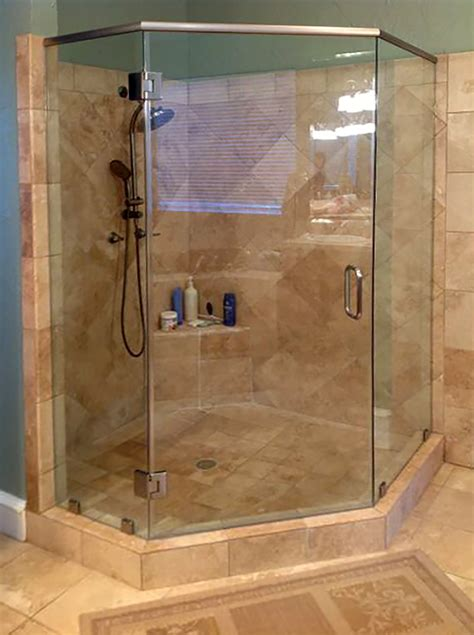 neo angle shower doors neo angle shower enclosures shower doors of dallas