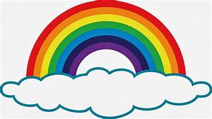 Black and white rainbow outline free clipart images ...