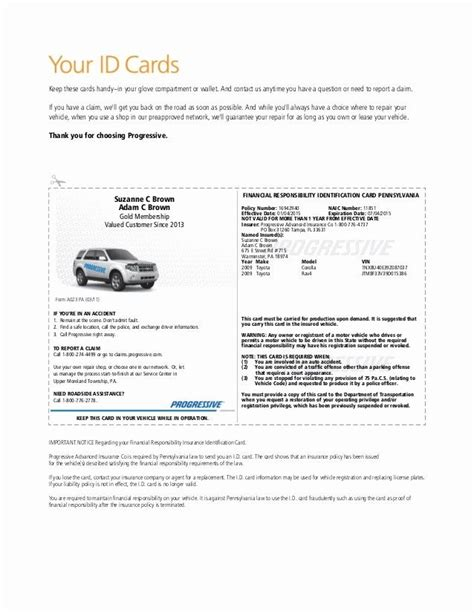 Fill out, securely sign, print or email your blank progressive insurance card form instantly with signnow. Auto Insurance Card Template Pdf Fresh Illinois Fake Insurance Card - Fill Line Printable ...