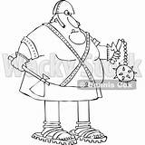 Axe Holding Executioner Cartoon Chubby Djart Flail Wackystock sketch template