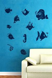 fish wall decals fish wall stickers 2016 grasscloth With fish wall decals
