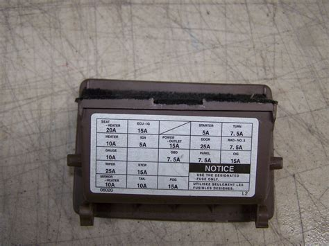 2001 toyota camry le fuse panel cover cubby ebay