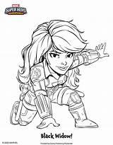 Coloring Marvel Sheets Superheroes Disney Super Hero Adventures Widow Sheet Character sketch template