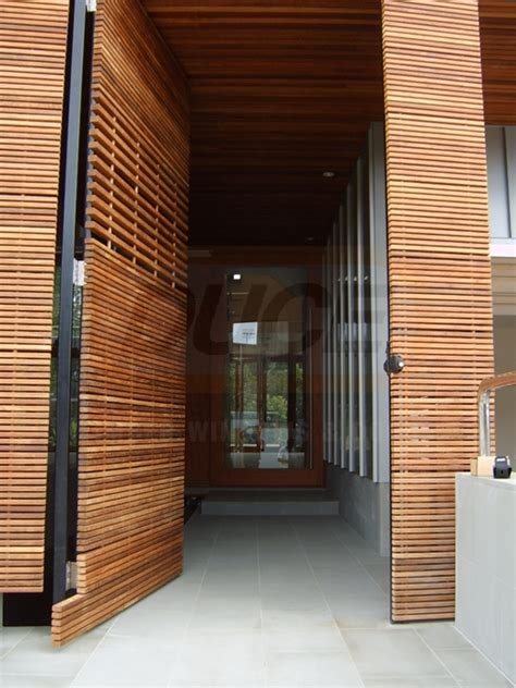 ventwood slatted timber panels   duce timber windows doors
