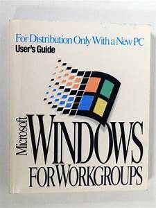 1993 Microsoft Windows Ver 3 1 For Work Group Add