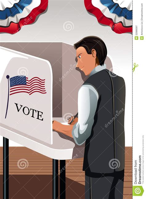 voting man royalty  stock photography image