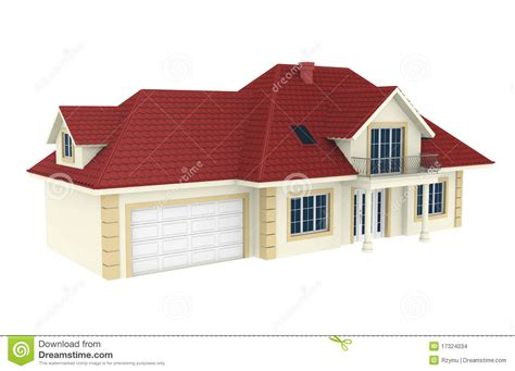 small a frame house plans free 3d house isolated on white background stock images image