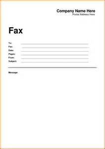 fax cover letter doc template