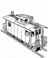Train Coloring Freight Railroad Caboose Bnsf Printable Template Getcolorings Sketch Colorluna sketch template