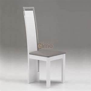 Chaise salle a manger design moderne bois massif et chrome for Chaises cuir salle À manger pour petite cuisine Équipée