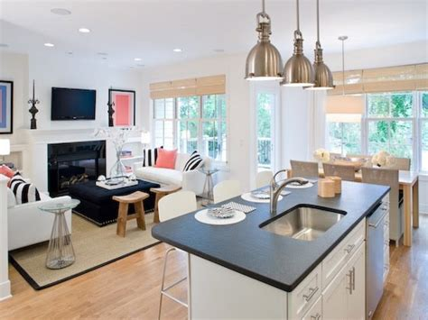 open plan kitchen living room design open kitchen living room layouts small family house plans