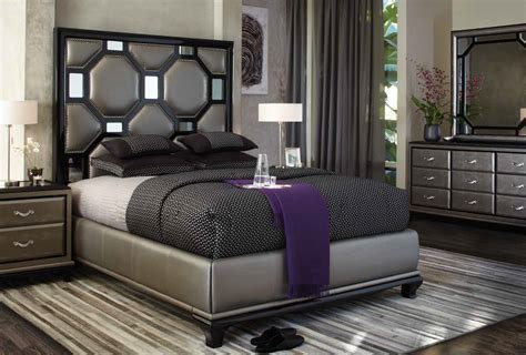 michael amini   bedroom black onyx set kobos