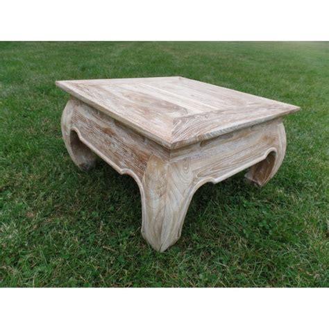table basse bois blanc ceruse ezooq