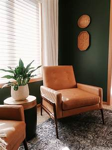 Dark, Green, Wall, Paint, Inspiration, With, Swatches, And, Paint