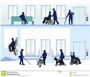 Home For People With Disability Stock Vector