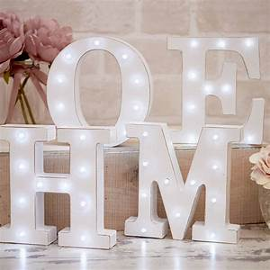 white distressed light up letters by la de da living With white light up letters