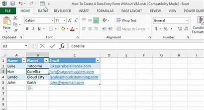 Entry Data Form Create Vba Without Excel