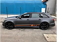 Folierung Audi RS6 Daytonagrau Orange Tuning 21