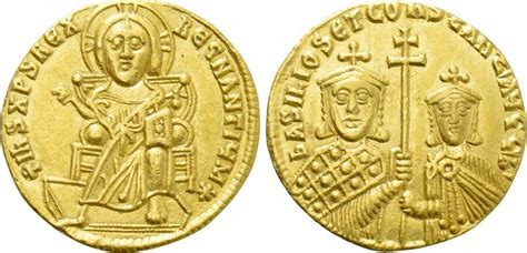Solidus Ma by Solidus 867 886 Byzanz Basil I The Macedonian With