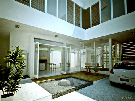house with courtyard interior courtyards