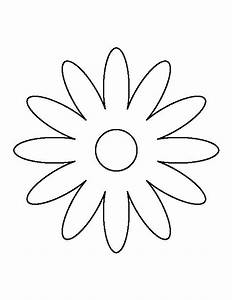 daisy pattern use the printable outline for crafts With daisy cut out template