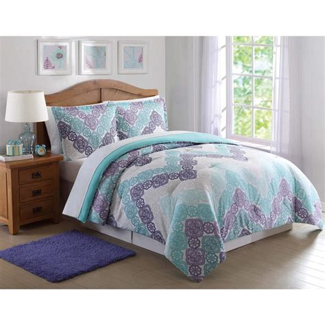 teal and purple comforter antique lace chevron purple and teal xl comforter set