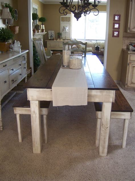 farmhouse kitchen table with bench cottage charm creations provincial farmhouse table