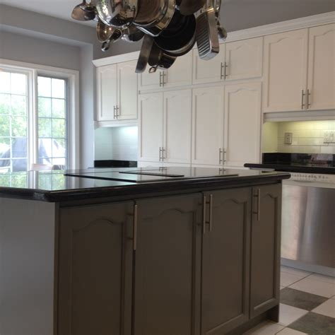 Spray Painted Oak Kitchen Cabinet Refinishing Spray