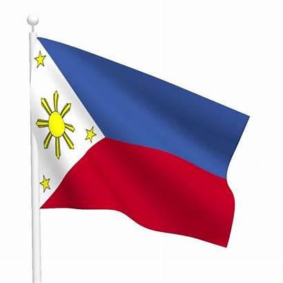 Flag Philippine Clipart Philippines Filipino Pole Cliparts