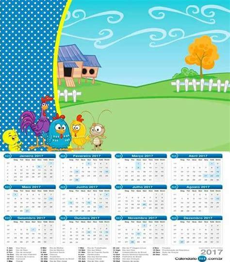 Calendário 2017 (com imagens) Festa infantil galinha