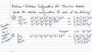 Electron Configurations For Transition Metals And Their