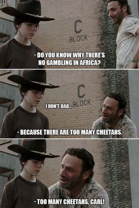 Walking Dead Rick Crying Meme - 31 of the best dad jokes told by walking dead s rick grimes thechive