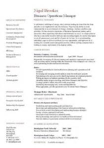 business operations resume objective business operations manager resume exles cv templates