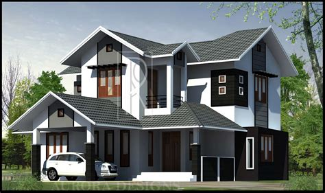 modern 4 bedroom house latest kerala style home design at 2169 sq ft 435 | modern 4 bedroom kerala home