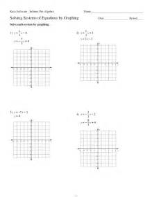 Solving Systems Of Equations By Graphing Worksheet For 9th