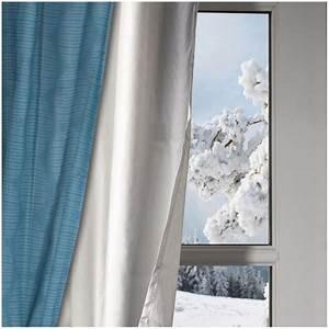 Rideau Occultant Thermique : rideau isolant thermique max min ~ Premium-room.com Idées de Décoration