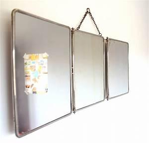 miroir triptyque les happyvintage With miroir triptyque salle de bain