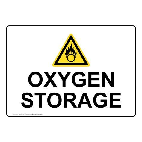 oxygen storage sign nhe  hazardous gas gas lines
