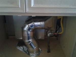 Down Draft Pipe Ventilation Beneath A Cook